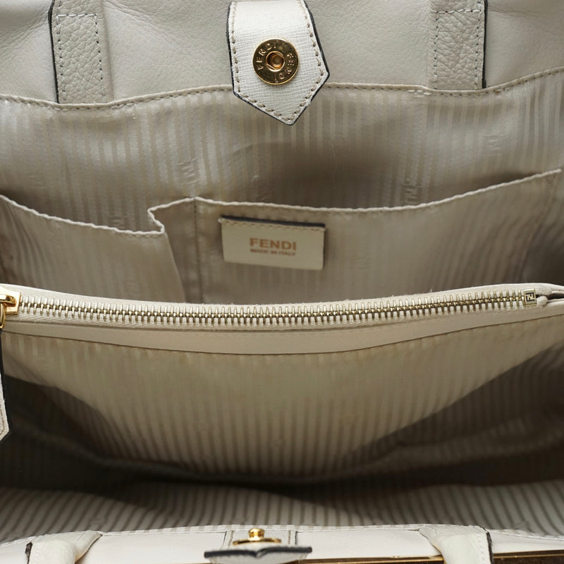 Pre-loved authentic Fendi Hand Bag White Leather sale at jebwa.