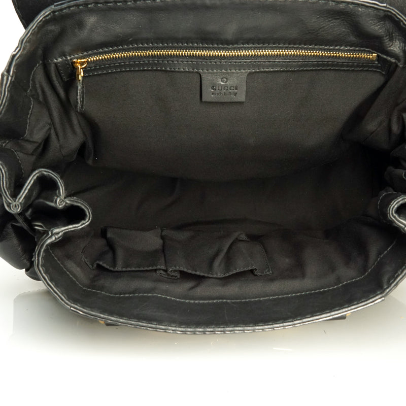 Pre-loved authentic Gucci Hand Bag Black Leather sale at jebwa.
