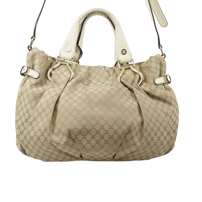 Celine Canvas Leather Shoulder Bag