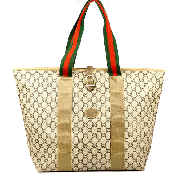 Gucci Logos Sherry Shoulder Tote