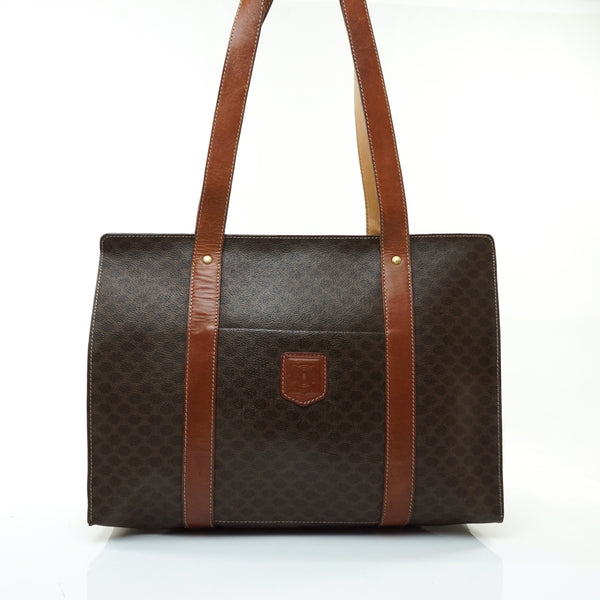 Celine Macadam Tote Bag Pvc Brown