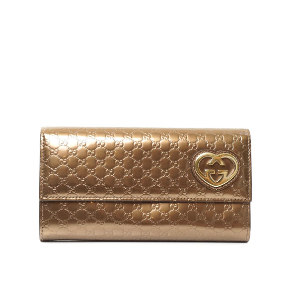Pre-loved authentic Gucci Guccissima Long Wallet sale at jebwa