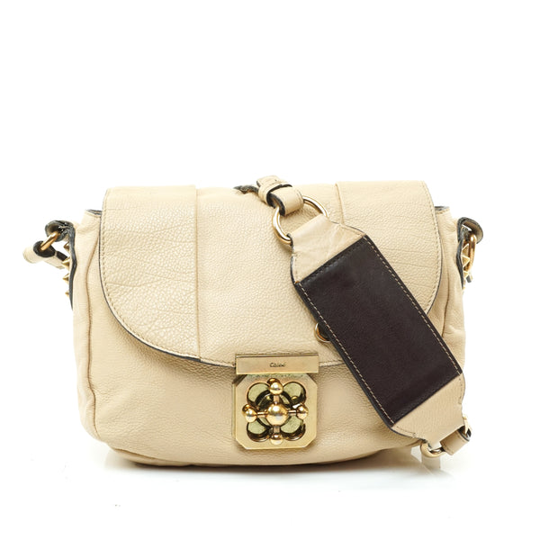 Chloe Crossbody Bag Beige Leather