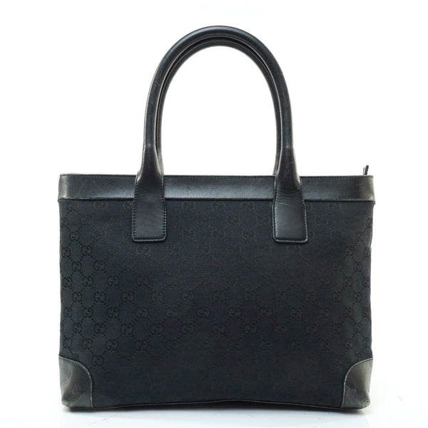 Pre-loved authentic Gucci Tote Bag Black Canvas sale at jebwa.