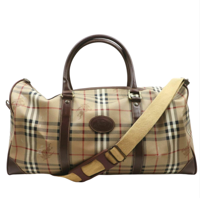 Burberry Travel Bag Brown Coated