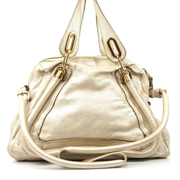 Pre-loved authentic Chloe Paraty Leather Cream Shoulder sale at jebwa