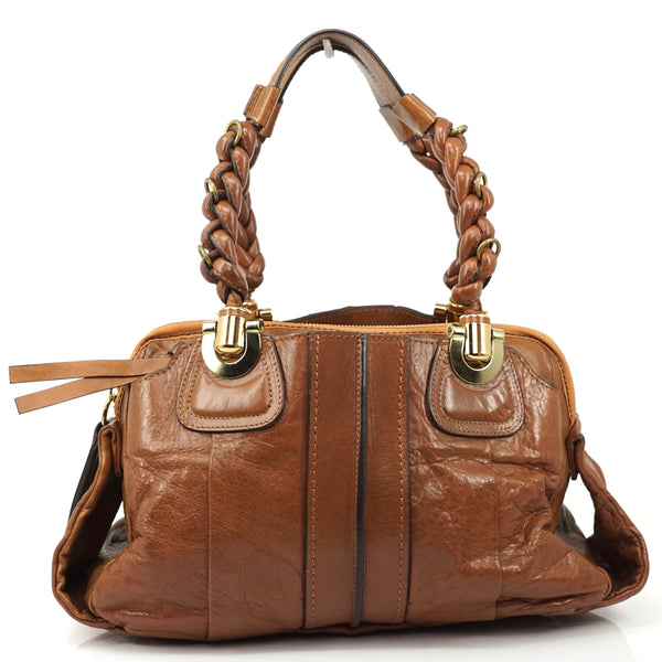 Pre-loved authentic Chloe Heloise Handbag Leather sale at jebwa