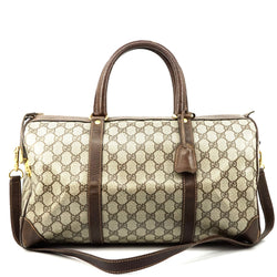 Pre-loved authentic Gucci Travel Bag Light Brown sale at jebwa