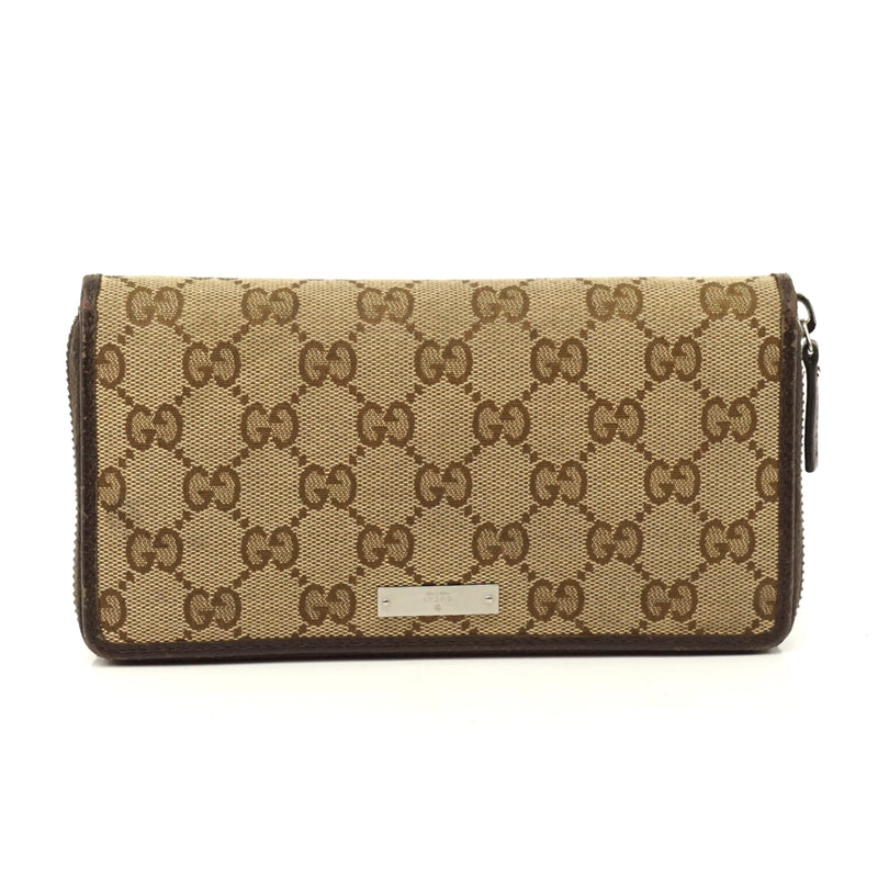 Pre-loved authentic Gucci Zippy Wallet Brown Canvas sale at jebwa.