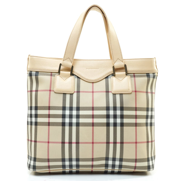 Pre-loved authentic Burberry London Tote Bag Nova Check sale at jebwa.