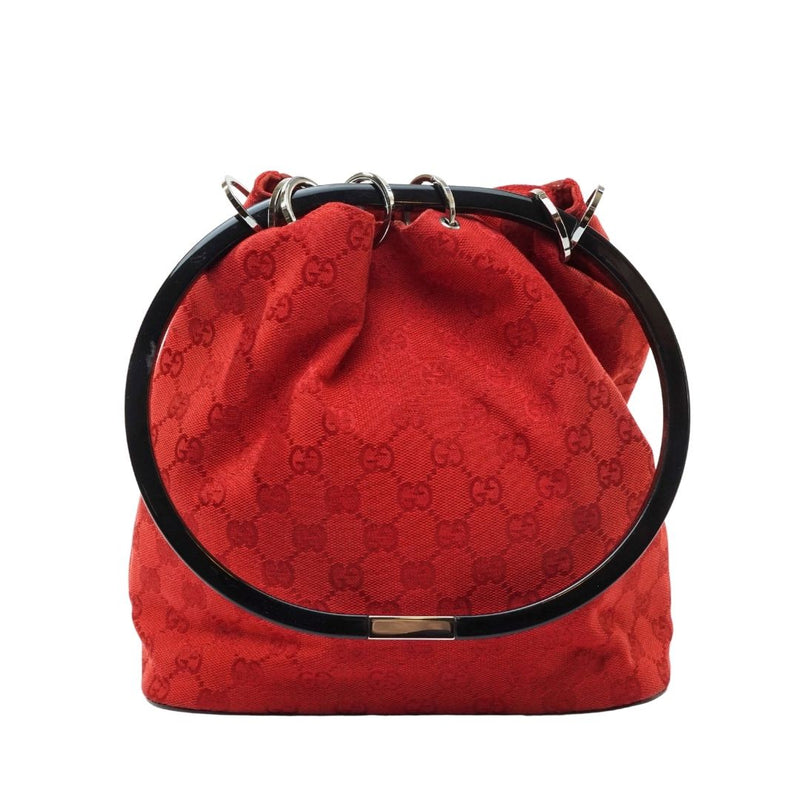 Gucci Gg Shoulder Bag Canvas Red