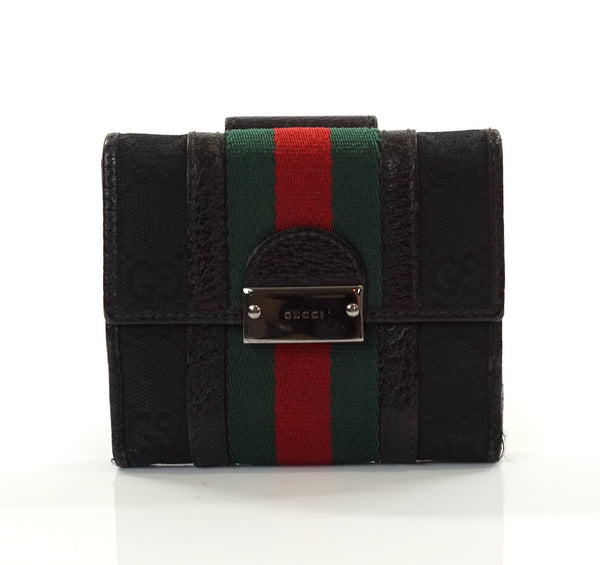Pre-loved authentic Aut Gucci Sherry Small Wallet Canvas sale at jebwa.