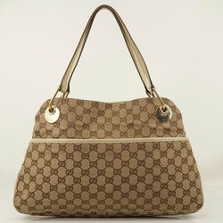 Pre-loved authentic Gucci Gg Shoulder Bag Beige Canvas sale at jebwa