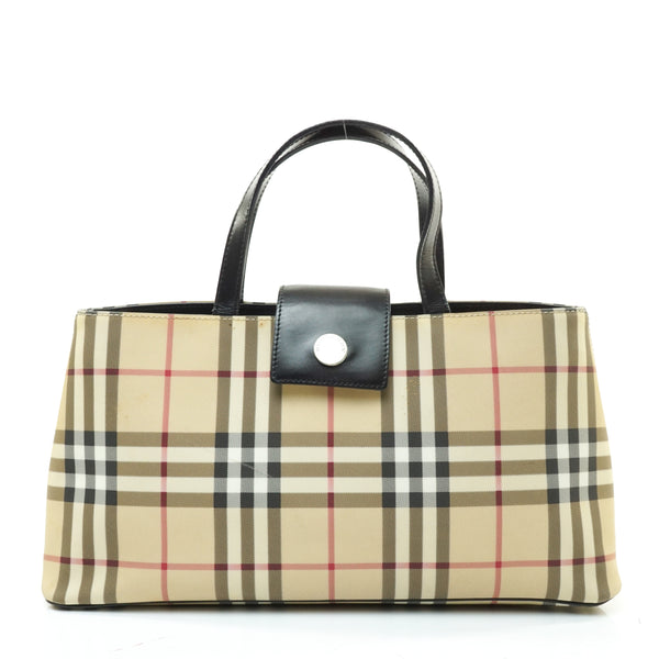 Pre-loved authentic Burberry Nova Check Hand Bag Beige sale at jebwa.