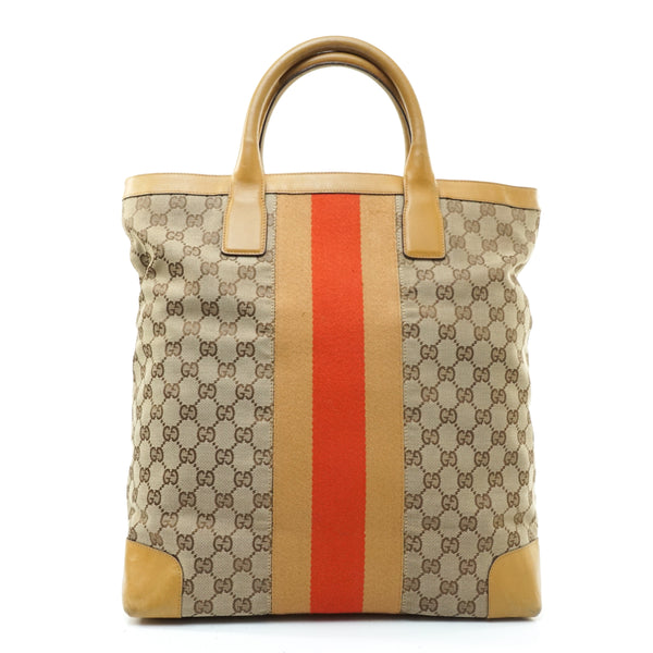 Gucci Gg Sherry Tote Bag Brown