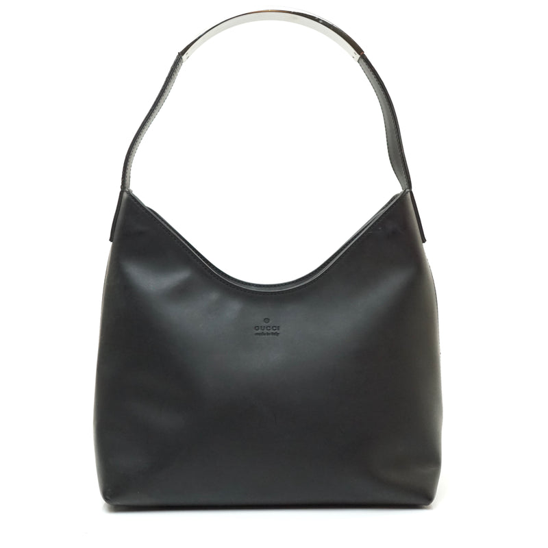 Pre-loved authentic Gucci Hand Bag Black Pu Leather sale at jebwa.