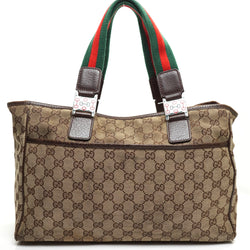 Pre-loved authentic Gucci Horsebit Logo Gg Tote Bag sale at jebwa.