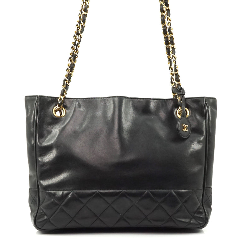 Chanel Black Lambskin Leather Tote