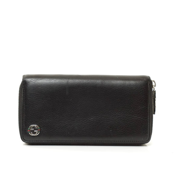 Pre-loved authentic Gucci Zippy Wallet Black Leather sale at jebwa