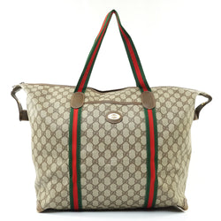 Pre-loved authentic Gucci Sherry Boston Bag Light Brown sale at jebwa.