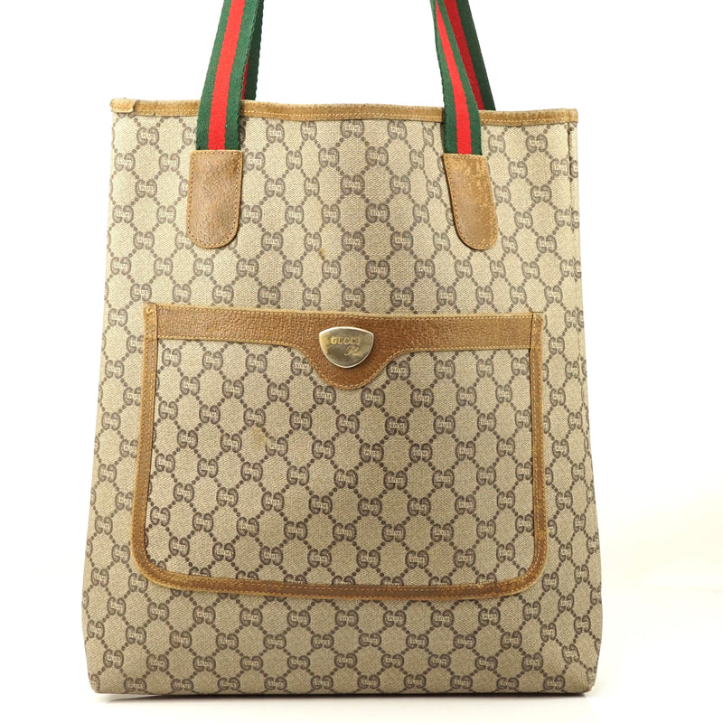 Pre-loved authentic Gucci Plus Gg Pattern Tote Bag sale at jebwa