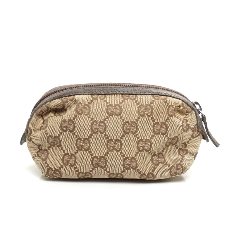 Pre-loved authentic Gucci Cosmetic Bag Brown Canvas sale at jebwa