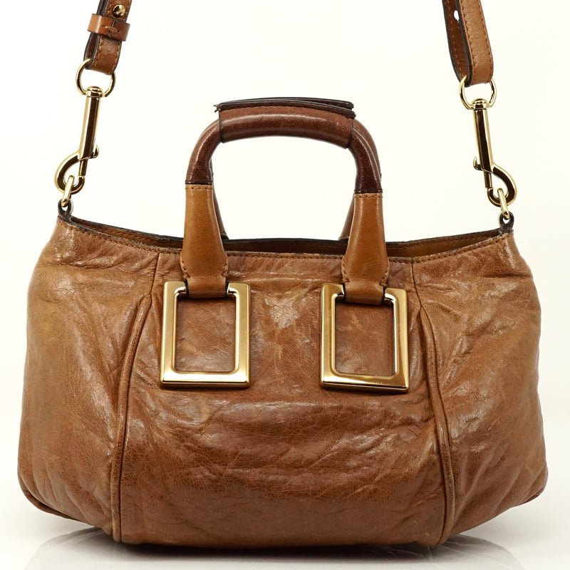 Pre-loved authentic Chloe Light Brown Leather Hand Bag sale at jebwa