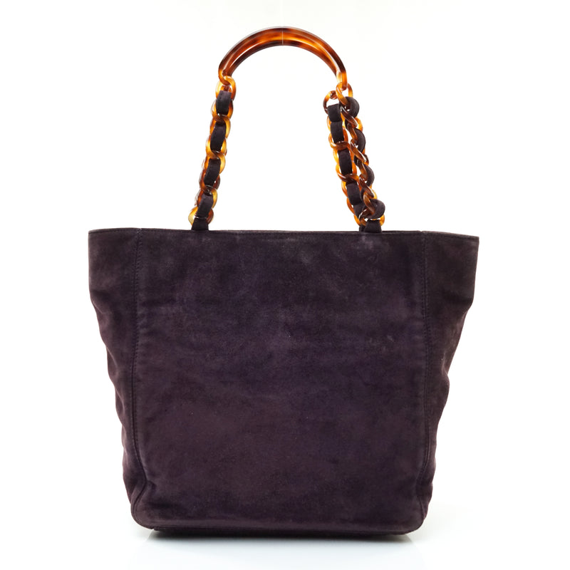 Pre-loved authentic Chanel Tote Bag Purple Suede sale at jebwa.