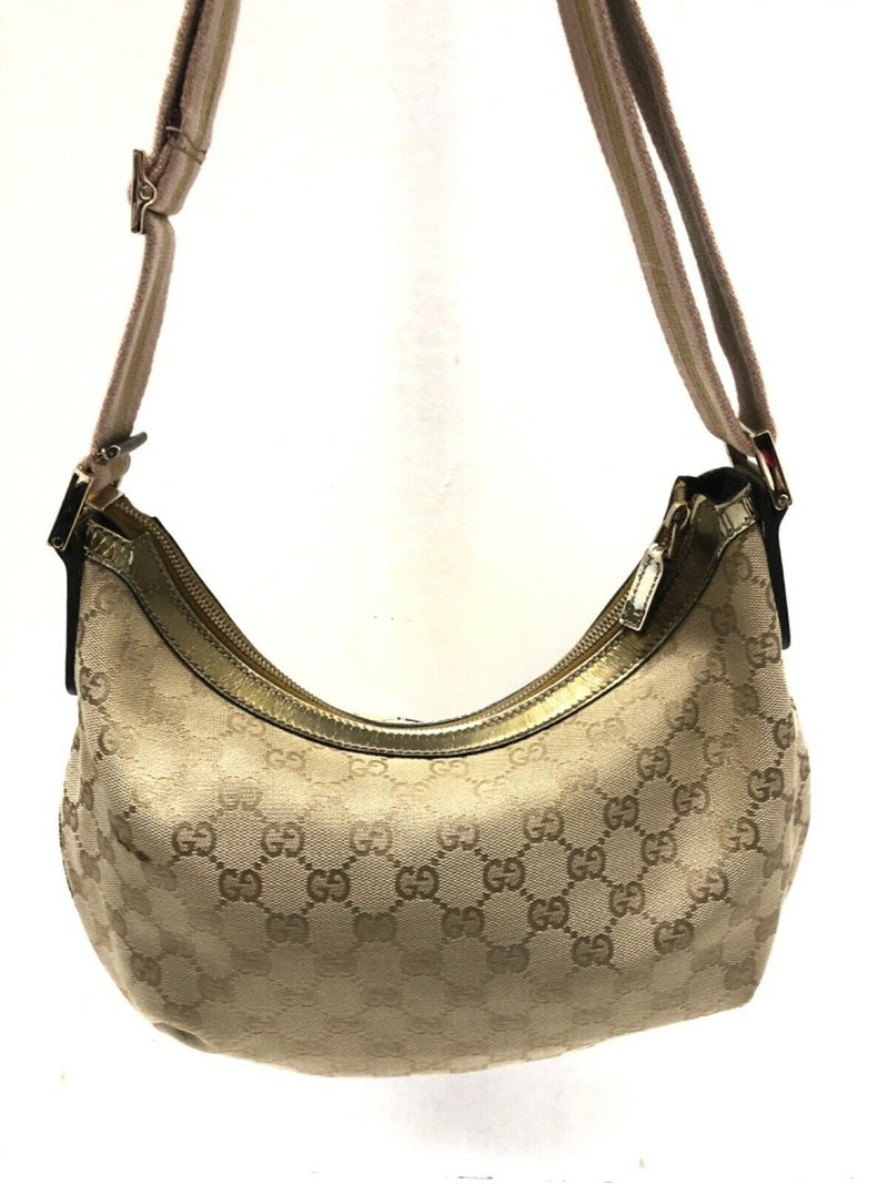 Pre-loved authentic Gucci Gg Beige Gold Jacquard sale at jebwa