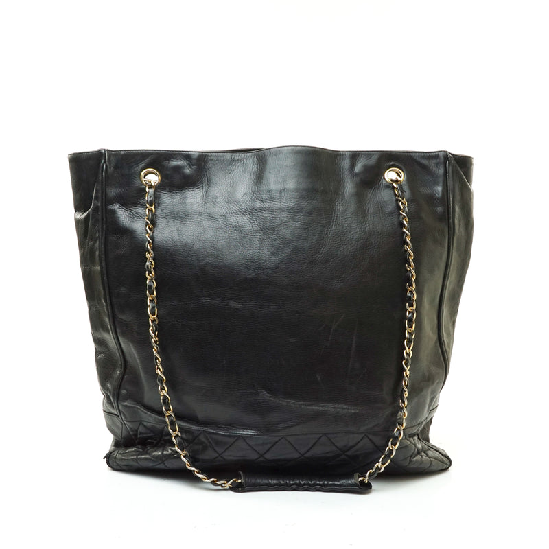 Chanel Tote Bag Black Leather