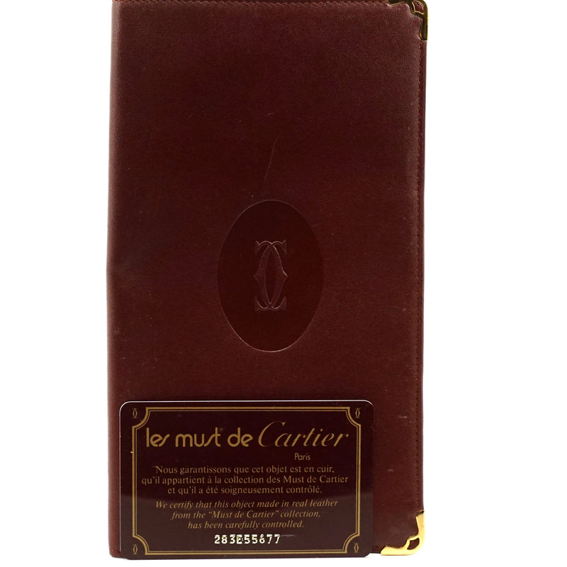 Pre-loved authentic Cartier Long Wallet Bordeaux sale at jebwa
