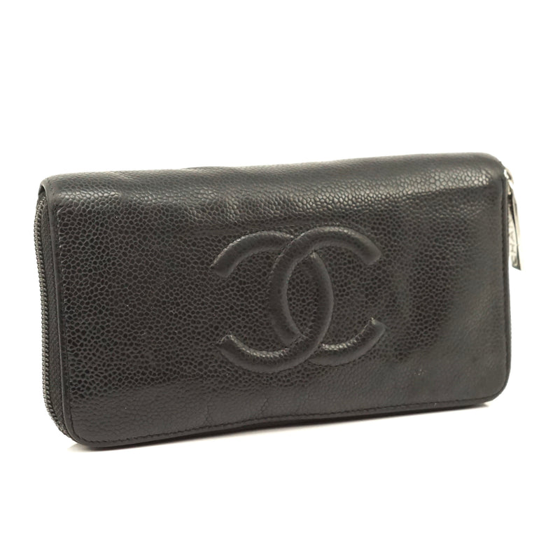Pre-loved authentic Chanel Zippy Wallet Black Leather sale at jebwa.