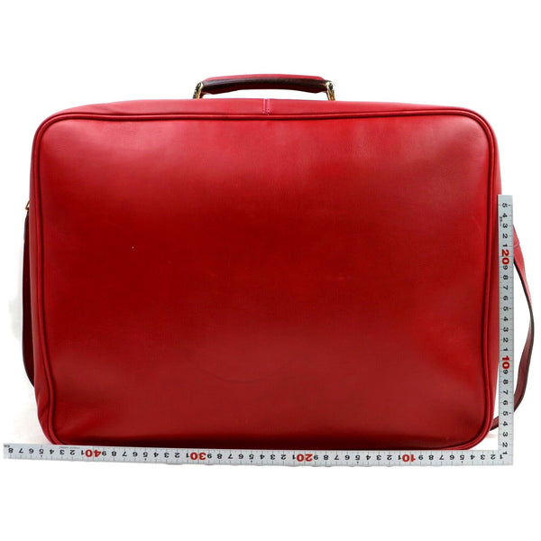 Gucci Red Leather Travel Bag Rare
