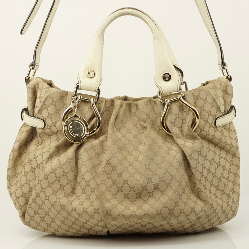 Pre-loved authentic Celine Canvas Leather Shoulder Bag sale at jebwa