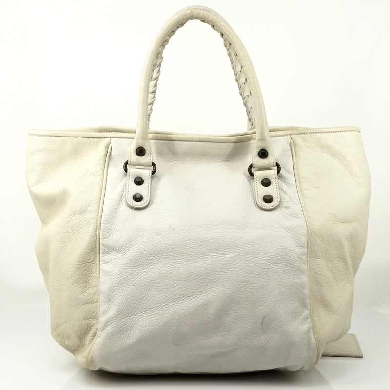Pre-loved authentic Balenciaga Sunday White Hand Bag sale at jebwa