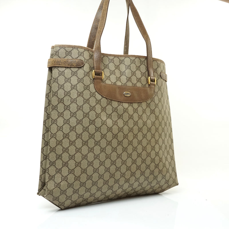 Pre-loved authentic Gucci Plus Tote Bag Brown Coated sale at jebwa.