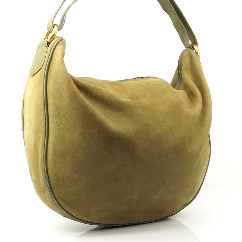 Pre-loved authentic Gucci Green Hobo Shoulder Bag sale at jebwa