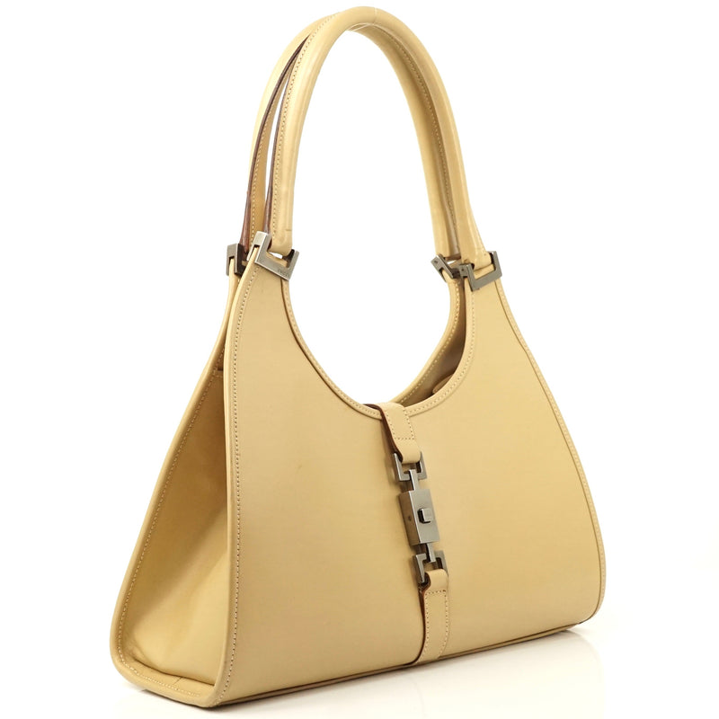 Pre-loved authentic Gucci Leather Hand Bag Beige sale at jebwa