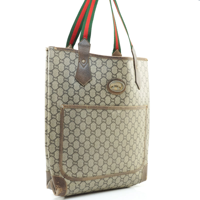 Pre-loved authentic Gucci Sherry Plus Tote Bag Brown sale at jebwa.