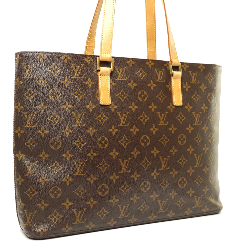 Pre-loved authentic Louis Vuitton Luco Tote Bag Brown sale at jebwa.