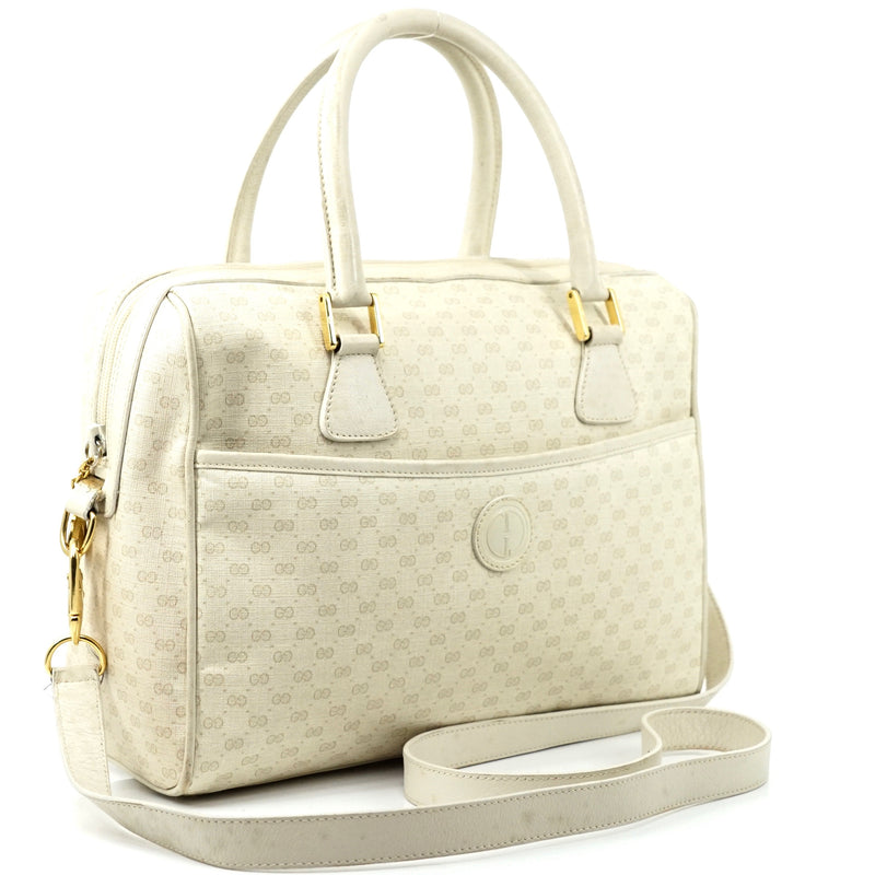 Pre-loved authentic Gucci Micro Small Gg Hand Bag Ivory sale at jebwa