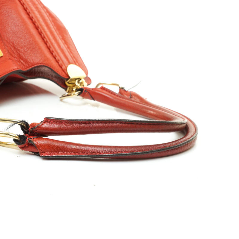 Chloe Tote Bag Irene Red Leather