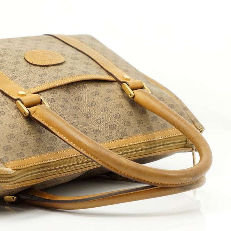 Pre-loved authentic Gucci Micro Gg Brown Boston Satchel sale at jebwa