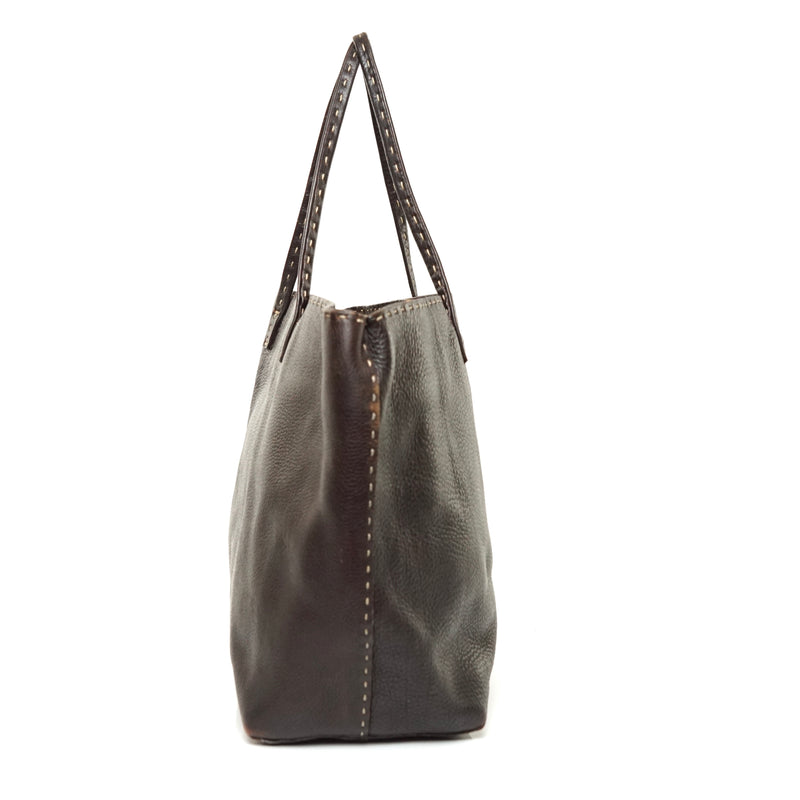 Pre-loved authentic Fendi Selleria Tote Bag Brown sale at jebwa
