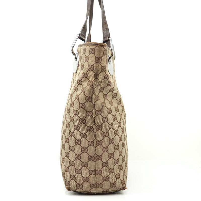 Pre-loved authentic Gucci Gg Tote Bag Brown Canvas sale at jebwa.