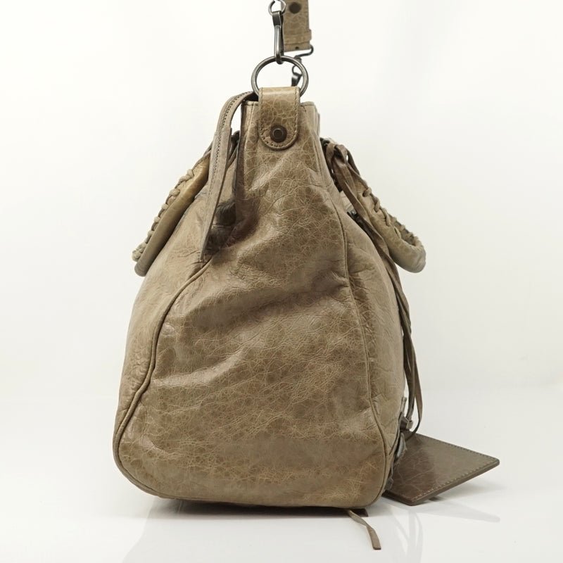 Pre-loved authentic Balenciaga The Vero Beige Hand Bag sale at jebwa
