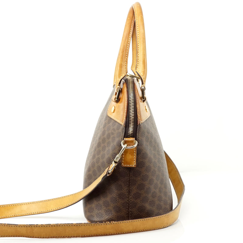 Pre-loved authentic Celine Macadam Crossbody Bag Brown sale at jebwa