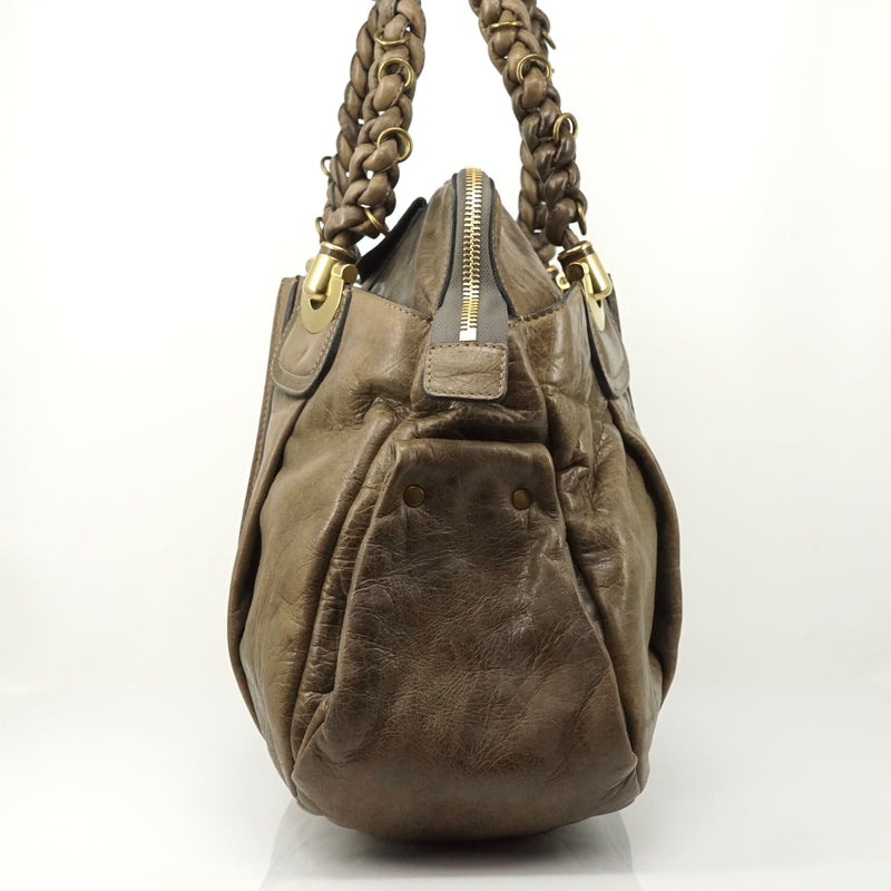 Pre-loved authentic Chloe Tote Bag Brown Leather sale at jebwa