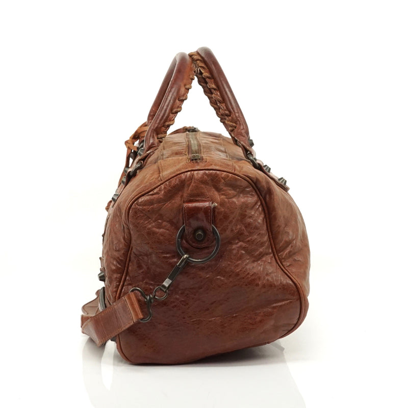 Pre-loved authentic Balenciaga The City Brown Leather sale at jebwa