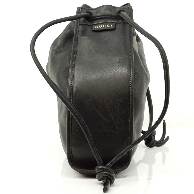 Pre-loved authentic Gucci Shoulder Bag Black Leather sale at jebwa